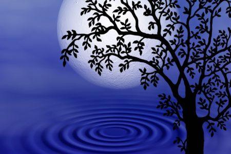 fantasy, clouds, moon